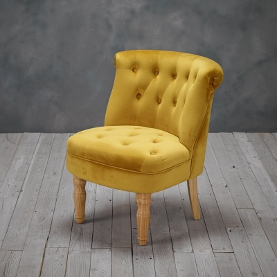 Charlotte  French Style Occasional Chair Mustard