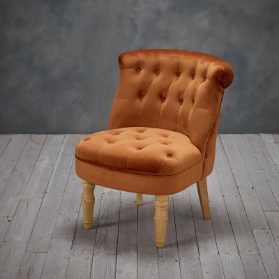 Charlotte  French Style Occasional Chair Orange
