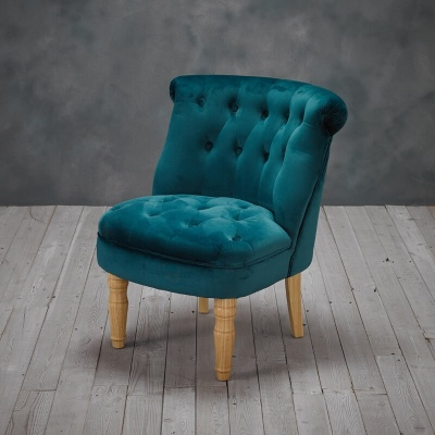 Charlotte  French Style Occasional Chair Teal