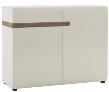 Chelsea 1 Drawer 2 Door Sideboard - White with Truffle Oak Trim