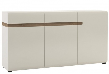 Chelsea 2 Drawer 3 Door Sideboard - White with Truffle Oak Trim