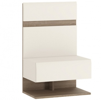 Chelsea Bedside Extension - White with Truffle Oak Trim