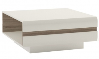 Chelsea Coffee Table - White with Truffle Oak Trim