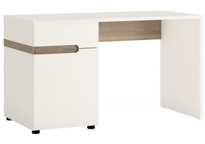 Chelsea Dressing Table - White with Truffle Oak Trim