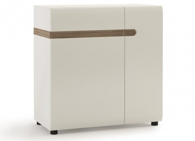 Chelsea Small Sideboard - White with Truffle Oak Trim