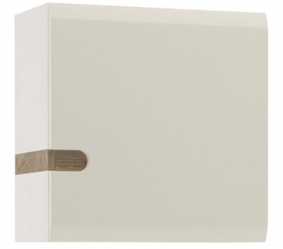 Chelsea Wall Cupboard - White with Truffle Oak Trim
