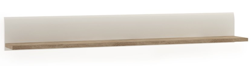 Chelsea Wall Shelf - White with Truffle Oak Trim