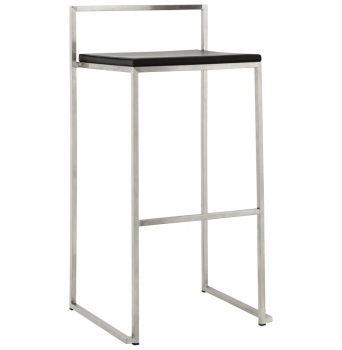 Chic Minimalist Brushed Steel Bar Stools