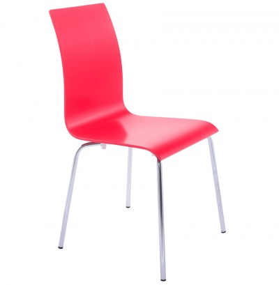 Classic Painted Bentwood Dining Chairs with Chrome Legs