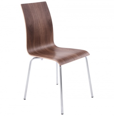 Classic Bentwood Dining Chairs with Chrome Legs