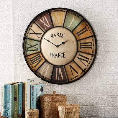 Chalet Industrial Style Metal Wall Clock