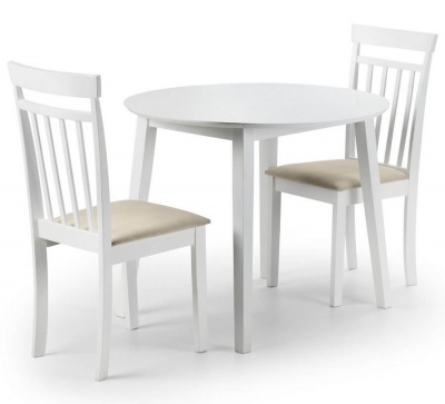 Coast White Drop Leaf Dining Table & Chair Set