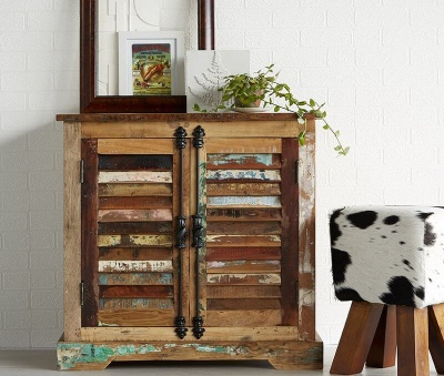 Coastal 2 Door Sideboard -Rustic Reclaimed Wood