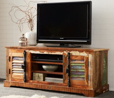 Coastal TV Cabinet - Rustic Reclaimed Wood