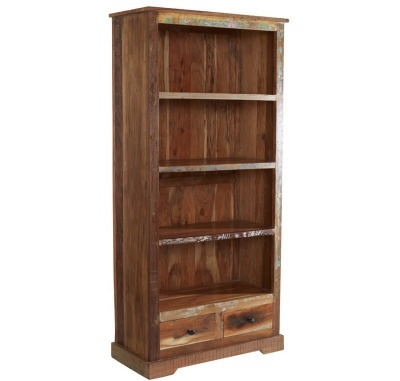 Coastal Large Bookcase - Rustic Reclaimed Wood