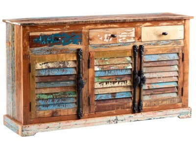 Coastal Large Sideboard - Rustic Reclaimed Wood