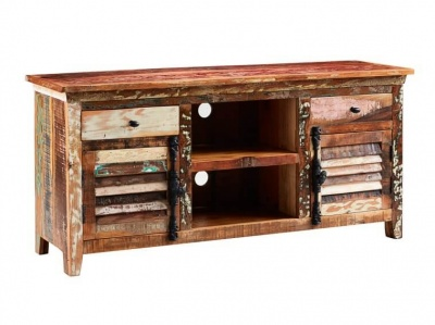 Coastal Large TV Media Sideboard  - Rustic Reclaimed Wood