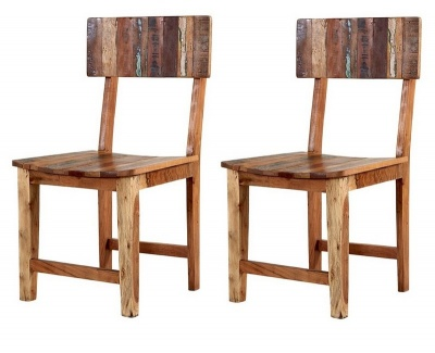 Coastal Dining Chairs - Pair- Rustic Reclaimed Wood