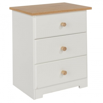 Colorado Warm White Bedside Table
