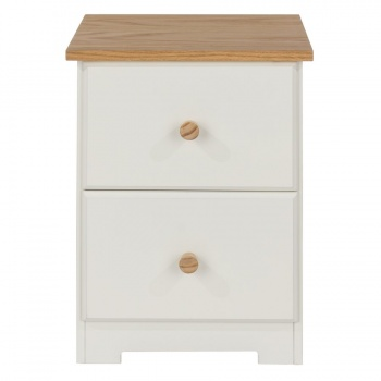 Colorado Warm White Petite Bedside Table
