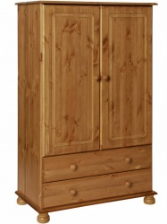 Copenhagen Pine 2 Door 2 Drawer Combi Wardrobe