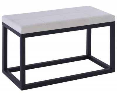Cordoba Upholstered Bed Seat - Black Frame