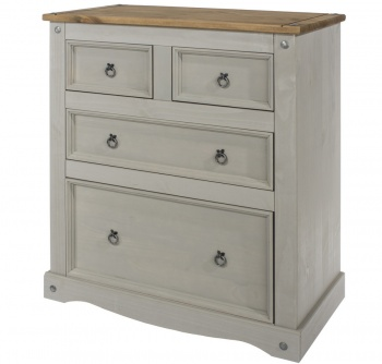 Corona Grey Washed 2 + 2 Drawer Chest
