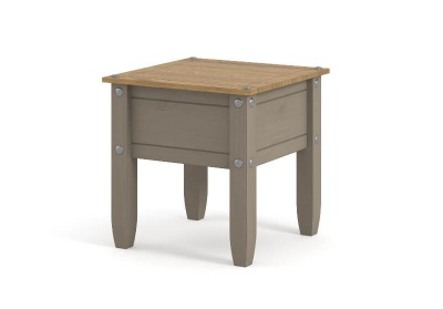 Corona Grey Washed Lamp Table