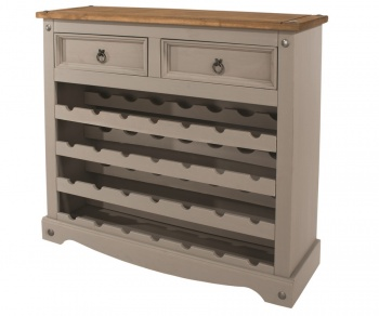 Corona Grey Washed Large Wine Rack