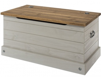 Corona Grey Washed Storage Trunk