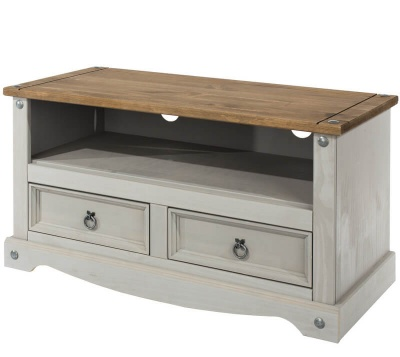 Corona Grey Washed Flat Screen TV Unit