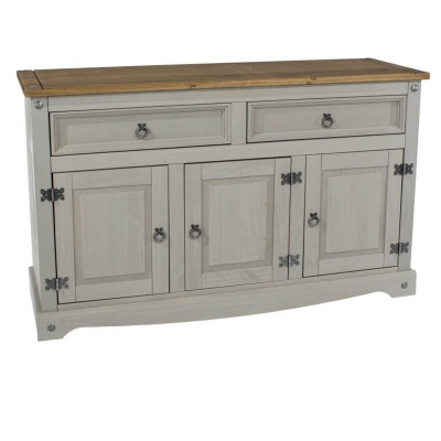 Corona Grey Washed Medium Sideboard