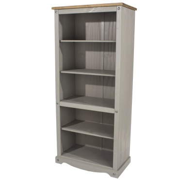 Corona Grey Washed Tall Bookcase