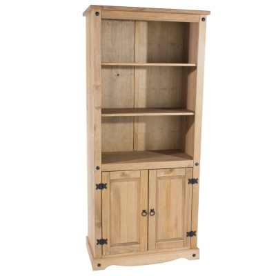 Corona Pine 2 Door Bookcase