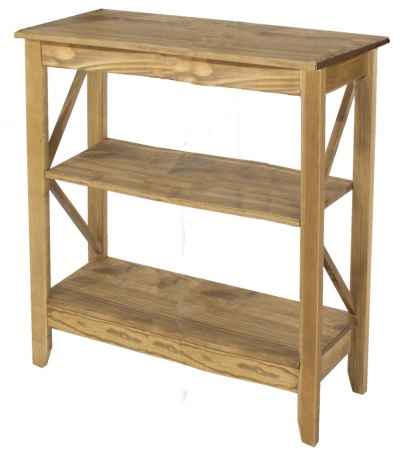 Corona Pine 3 Tier Wide Shelf Unit