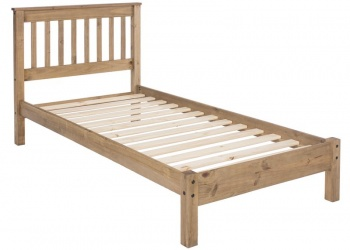 Rustic Pine Single Bed Frame