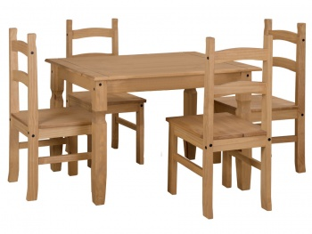 Corona Pine 118 Dining Table & Chairs