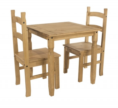 Corona Pine Square Dining Table & Chairs