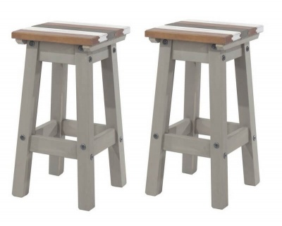 Corona Vintage Low Kitchen Stool - Pair