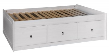 Corona White Cabin Bed with Three Drawers