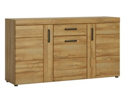 Cortina 3 Door 1 Drawer Sideboard Grandson Oak Effect