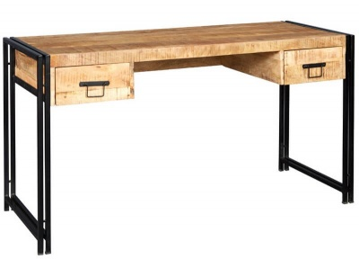 Cosmo Industrial Desk - Reclaimed Wood/Dark Metal