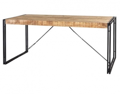 Cosmo Industrial Wood & Metal Bench - Reclaimed Wood/Dark Metal