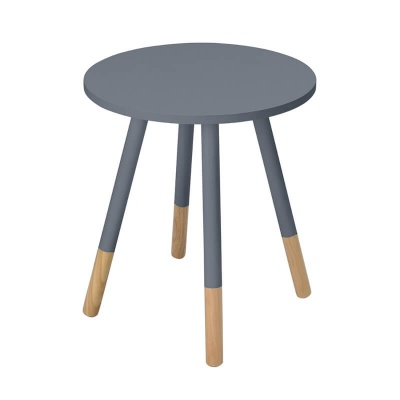 Costa Round Modern Side Table - Grey