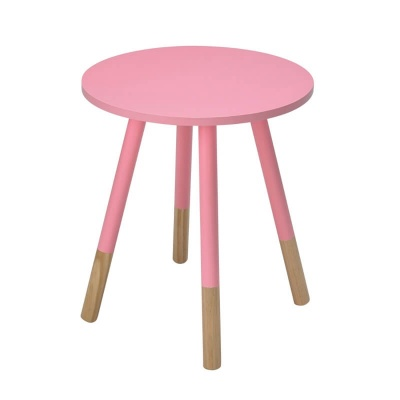 Costa Round Modern Side Table - Pink