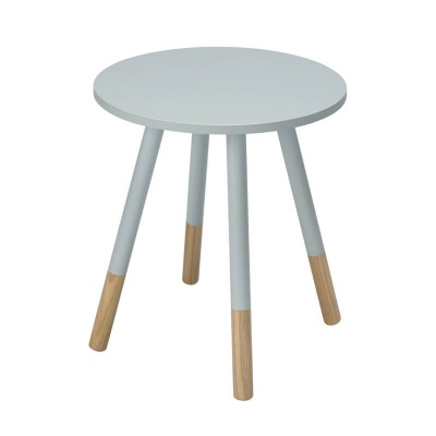 Costa Round Modern Side Table - White