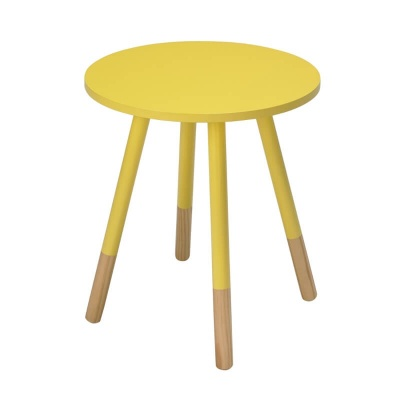 Costa Round Modern Side Table - Yellow