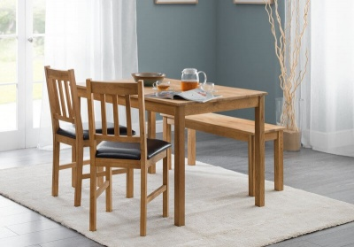 Coxmoor Oak Dining Table Bench Set