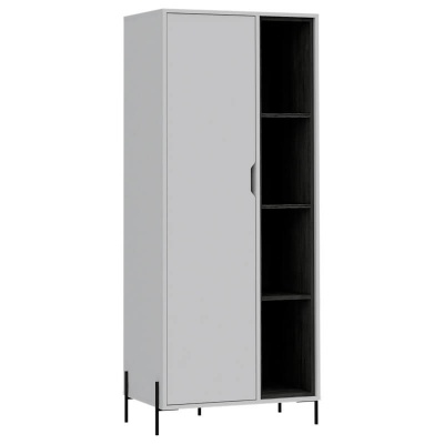 Dallas White & Carbon Bookcase Display Unit