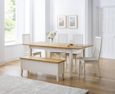 Davenport Extending Dining Table, 4 Vermont Chairs & Bench